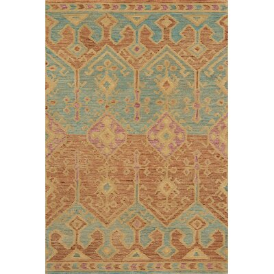 Gemology Hand-Tufted Brown Area Rug Rug Size: 36 x 56