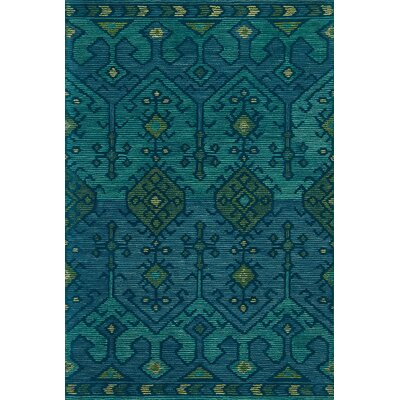 Gemology Hand-Tufted Green Area Rug Rug Size: Rectangle 93 x 13