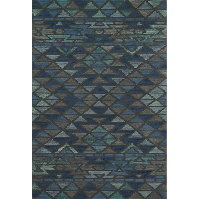 Gemology Hand-Tufted Blue/Gray Area Rug Rug Size: Runner 2'6