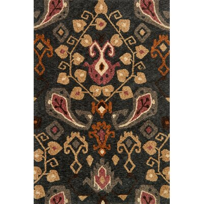 Kalliope Black Area Rug Rug Size: Rectangle 36 x 56
