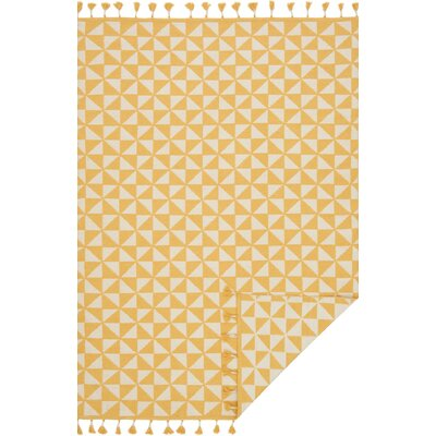 Pangburn Hand-Woven Yellow/Ivory Area Rug Rug Size: Rectangle 79 x 99