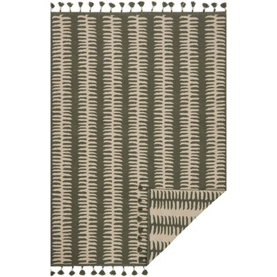 Kahelo Hand-Woven Gray/Silver Area Rug Rug Size: Rectangle 36 x 56