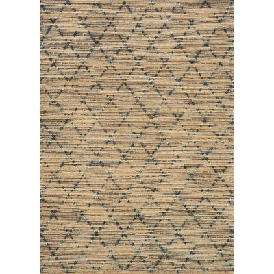 Pangkal Pinang Hand-Woven Brown/Navy Area Rug Rug Size: Rectangle 5 x 76