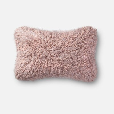 Shag Lumbar Pillow Color: Pink