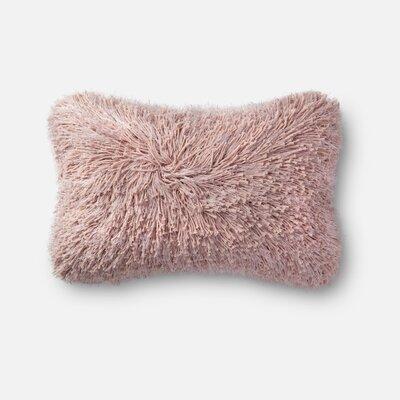 Ilford Shag Lumbar Pillow Color: Pink