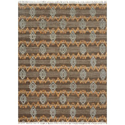 Owen Hand-Woven Brown/Gray Area Rug Rug Size: 36 x 56