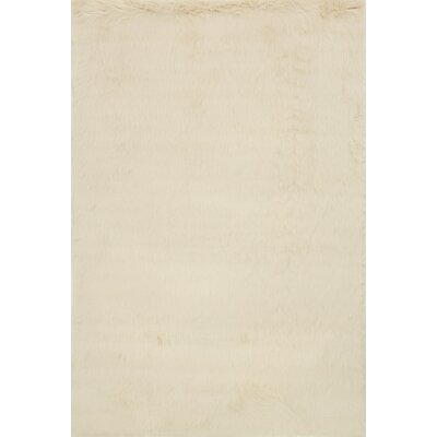 Zamorano Faux Fur Beige Area Rug Rug Size: Rectangle 3 x 5