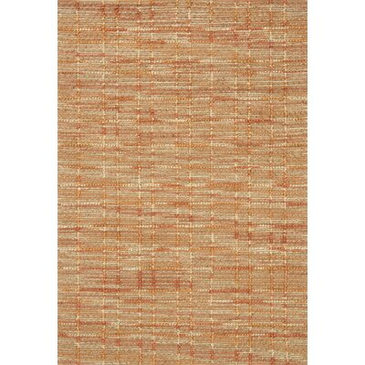 Pangkal Pinang Hand-Woven Tangerine Area Rug Rug Size: Rectangle 23 x 39