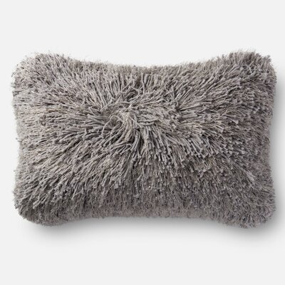 Shag Lumbar Pillow Color: Gray