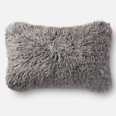Gilby Shag Lumbar Pillow Color: Gray