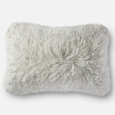 Shag Pillow Cover Color: White