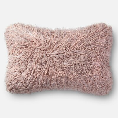 Gilby Shag Lumbar Pillow Color: Pink