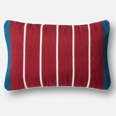 Indoor/Outdoor Pillow Cover Color: Red/Blue