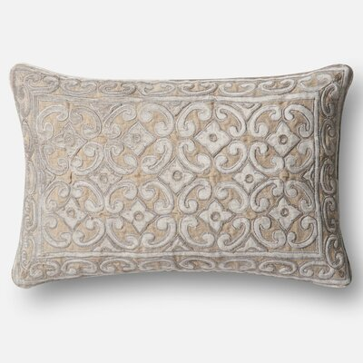 Linen/Cotton Lumbar Pillow Color: Tan