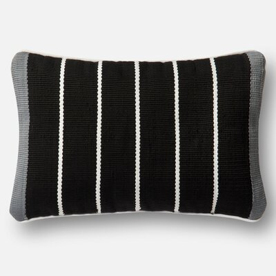 Hisle Indoor/Outdoor Pillow Cover Color: Black/Gray