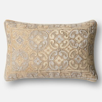 Linen/Cotton Lumbar Pillow Color: Beige