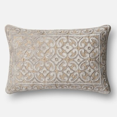 Ledger Linen/Cotton Pillow Cover Color: Tan