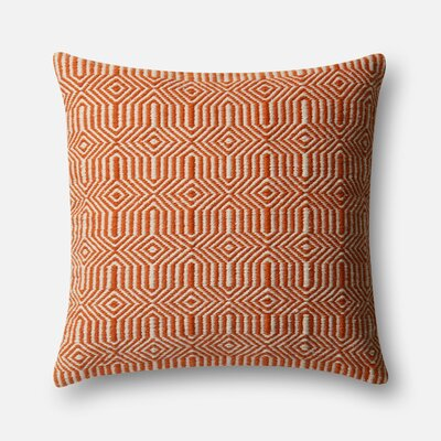 Throw Pillow Cover Color: Orange