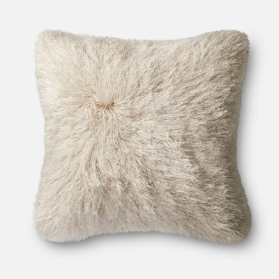 Throw Pillow Color: Ivory