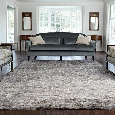Leffel Hand-Woven Gray Area Rug Rug Size: Rectangle 86 x 116