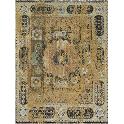 Keithley Hand-Knotted Dune Stone Area Rug Rug Size: Rectangle 86 x 116