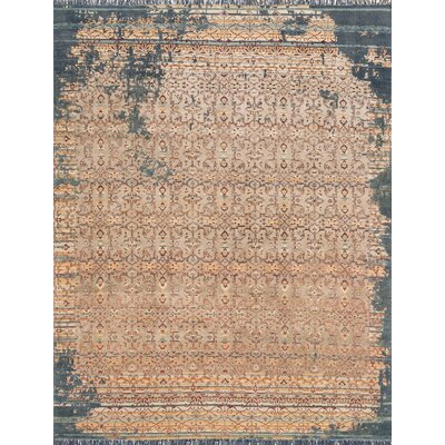 Ashton Hand-Knotted Platinum Area Rug Rug Size: Rectangle 86 x 116