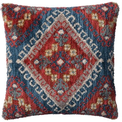 Pillow Cover Color: Rust/Blue