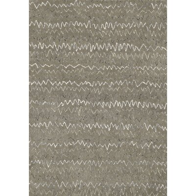 Diada Hand Tufted Wool Gray Area Rug Rug Size: 36 x 56