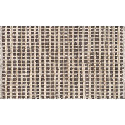 Porto Hand-Woven Brown Area Rug Rug Size: 23 x 39