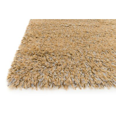 Boyd Hand-Woven Gold/Light Brown Area Rug Rug Size: 5 x 76