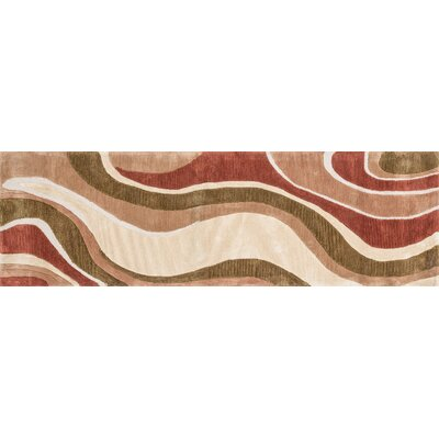 Willhoite Hand-Tufted Beige/Rust Area Rug Rug Size: Runner 23 x 76