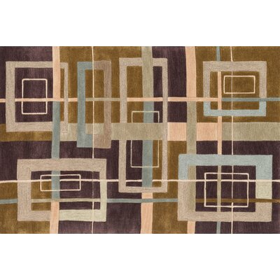 Willhoite Hand-Tufted Mocha Area Rug Rug Size: Rectangle 5 x 76