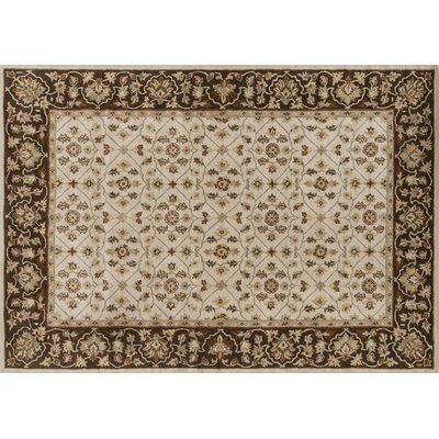 Elmwood Hand-Tufted Ivory/Brown Area Rug Rug Size: 93 x 13