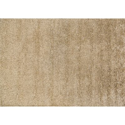 Turco Hand-Woven Faux Fur Beige Area Rug Rug Size: Square 7