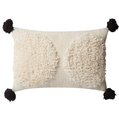 Palm Estates Wool/Cotton Lumbar Pillow