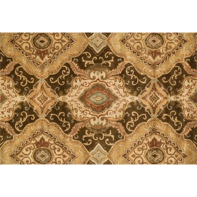 Fulton Hand-Tufted Light Brown Area Rug Rug Size: 5 x 76