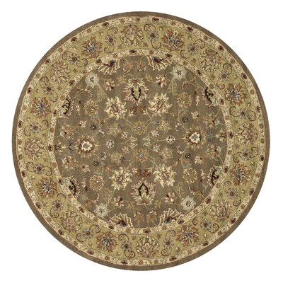Maple Hand-Tufted Light Gold Area Rug Rug Size: Round 8