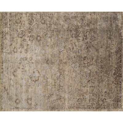 Mirage Hand-Woven Brown Area Rug Rug Size: 86 x 116