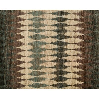 Zakrzewski Hand-Knotted Pinebark Area Rug Rug Size: Rectangle 56 x 86
