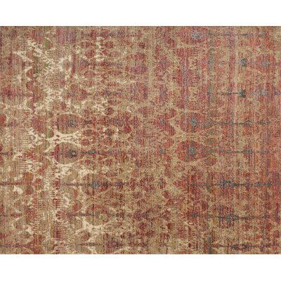 Javari Drizzle/Berry Area Rug Rug Size: Rectangle 26 x 4