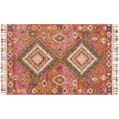 Rana Hand-Hooked Fiesta Area Rug Rug Size: Rectangle 5 x 76