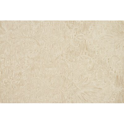 Lyle Hand-Hooked Sand Area Rug Rug Size: Rectangle 36 x 56