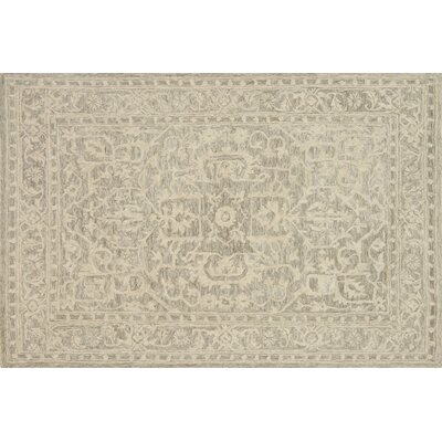 Lyle Hand-Hooked Taupe Area Rug Rug Size: 36 x 56