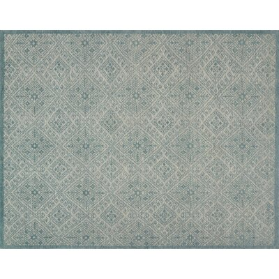 Pangle Hand-Knotted Aqua Area Rug Rug Size: Rectangle 79 x 99