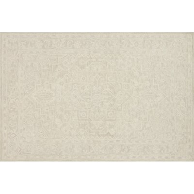 Lyle Hand-Hooked Bone Area Rug Rug Size: Rectangle 5 x 76
