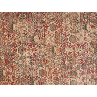 Javari Berry/Ivory Area Rug Rug Size: Rectangle 37 x 52