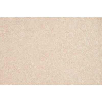 Lyle Hand-Hooked Blush Area Rug Rug Size: Rectangle 5 x 76