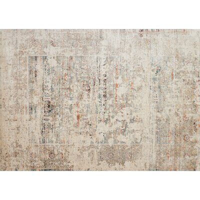 Zanders Ivory/Granite Area Rug Rug Size: Rectangle 53 x 74