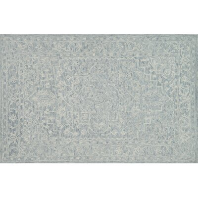 Darryl Hand-Hooked Slate Area Rug Rug Size: Rectangle 79 x 99