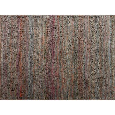 Javari Charcoal/Sunset Area Rug Rug Size: 37 x 52